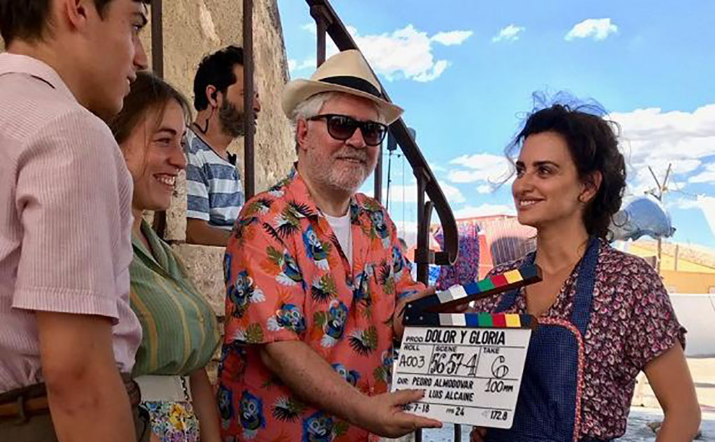 Almodovar and Penelope Cruz in Paterna