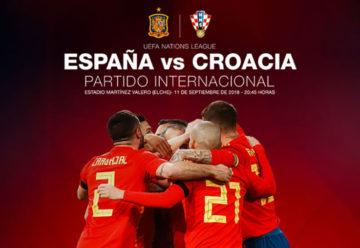 Fútbol España-Croacia en Elche