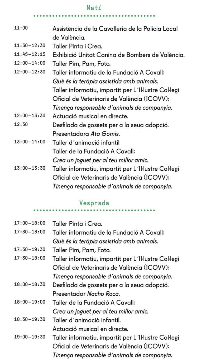 Feria Animalista de Valencia: programa