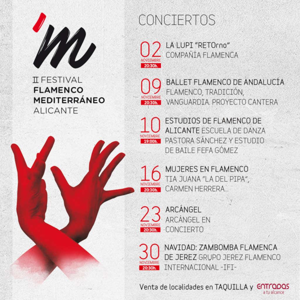 II Festival de Flamenco Mediterráneo: conciertos