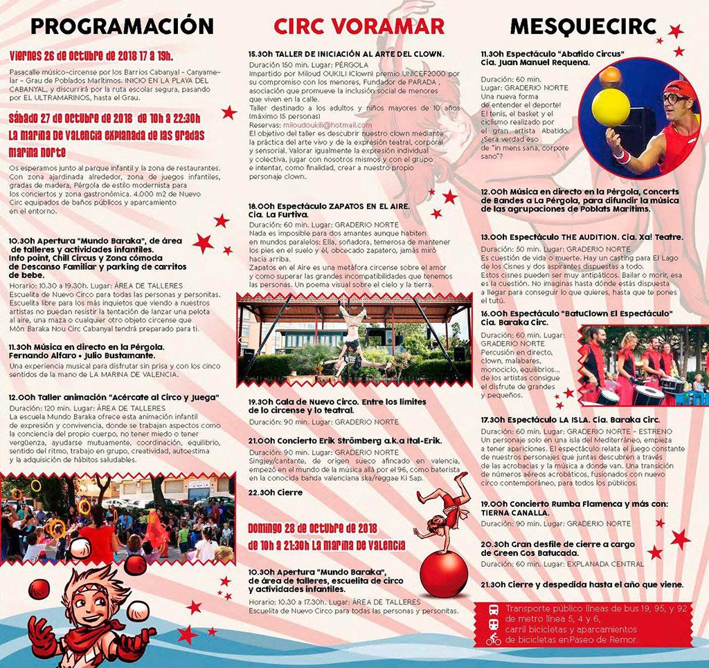 Festival VoraMar 2018: Программа