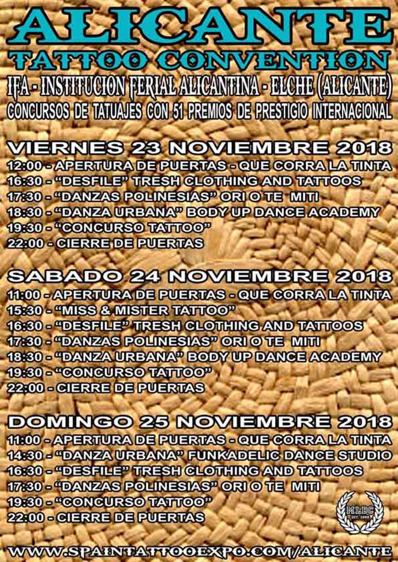 Alicante Tattoo Convention: programme