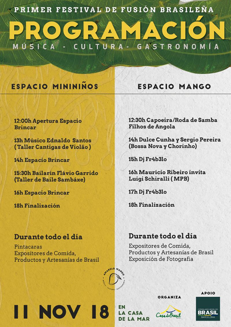 Amarelo Mango: programme
