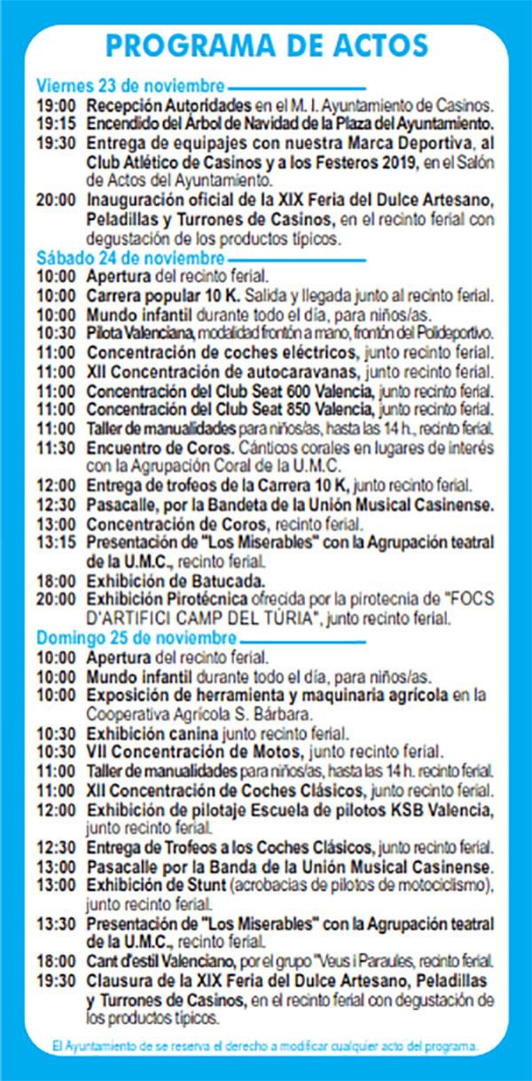 Feria Casinos: programme