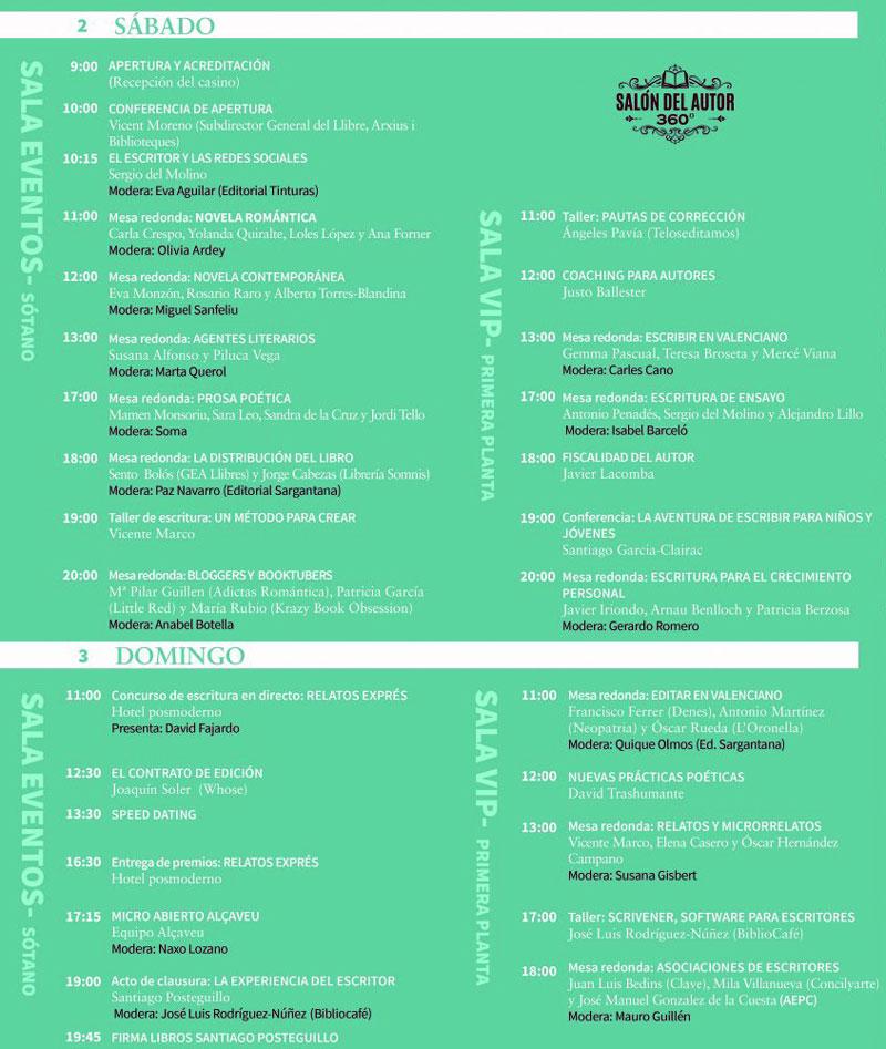 II Salón del Autor 360º: programme
