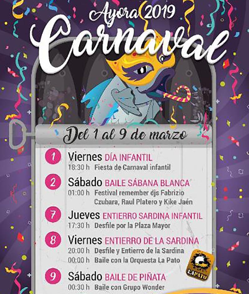 Carnaval 2019: programa Ayora