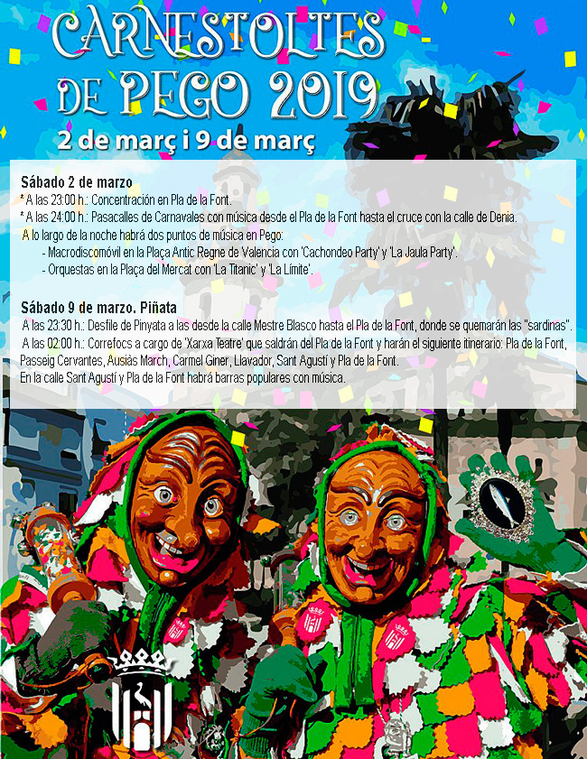 Carnaval 2019: Pego programme