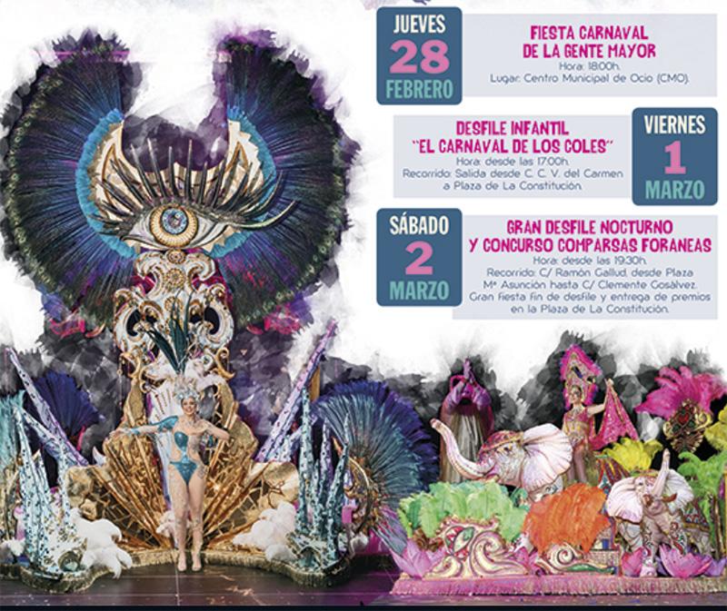 Carnaval 2019: programa Torrevieja