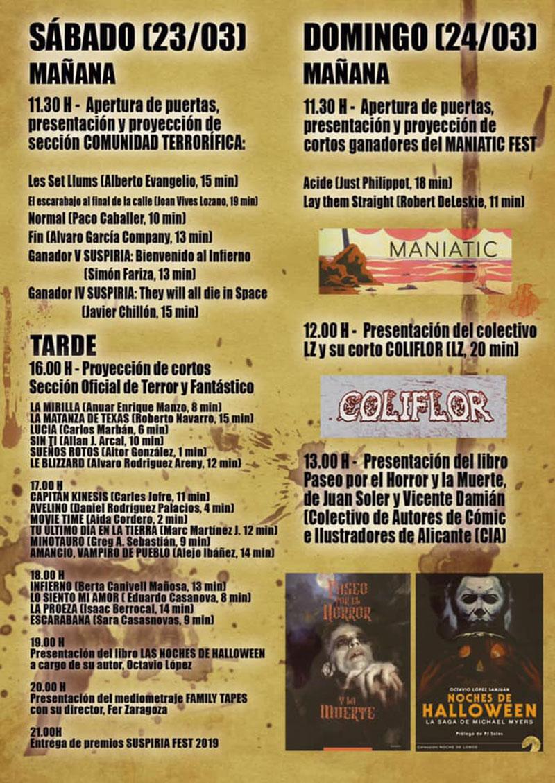 Suspiria Fest 2019: programa