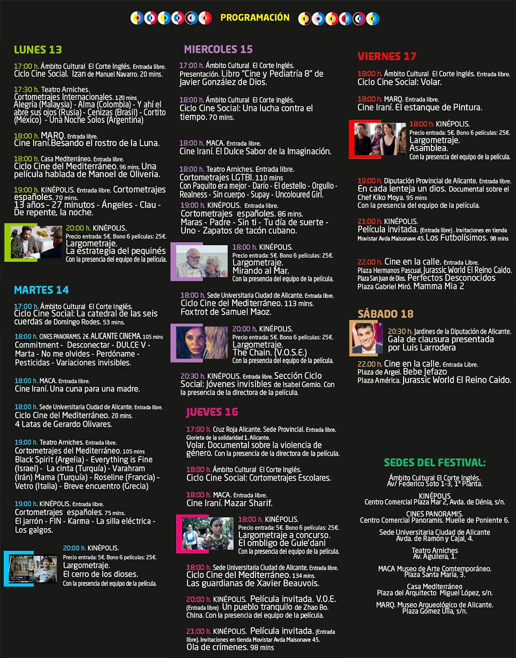 Festival de cine de Alicante 2019: programme