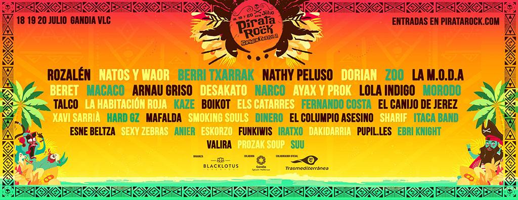 Pirata Rock Festival 2019: programa