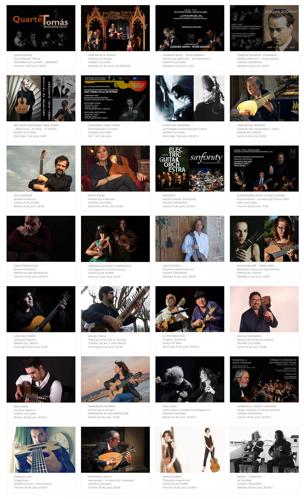 Festival Internacional de Guitarra Petrer 2019: programa