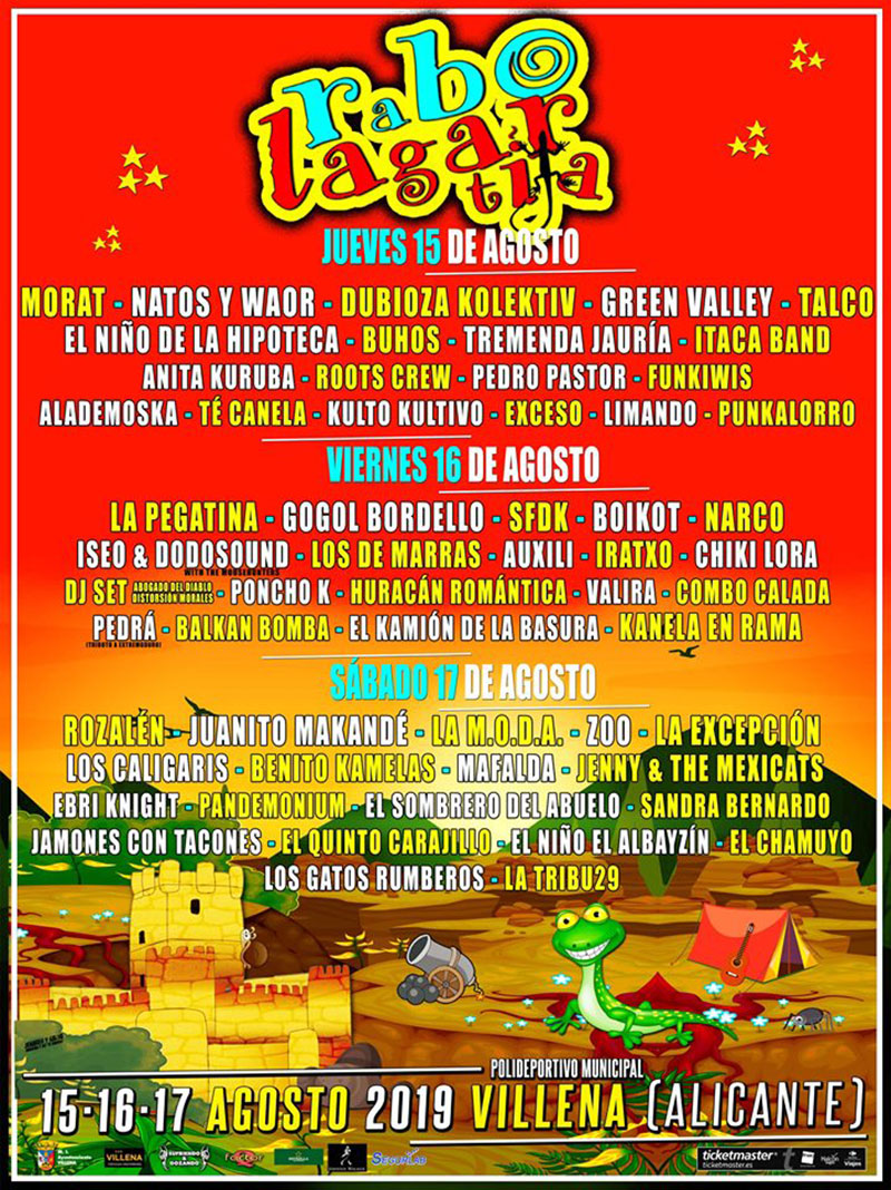 Rabolagartija Festival 2019: programme