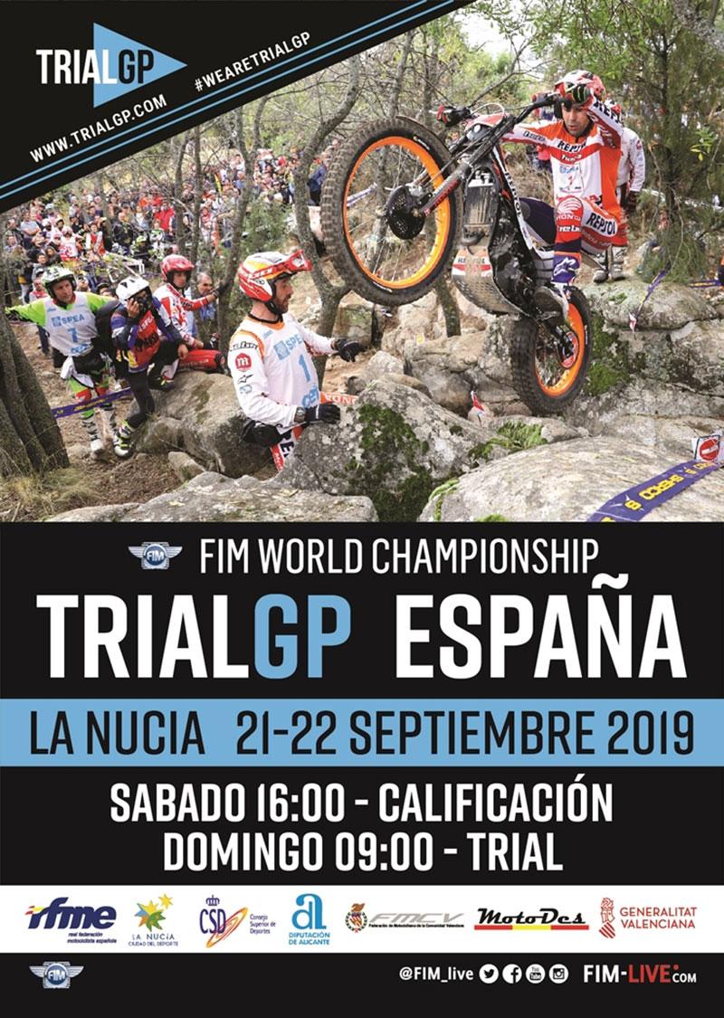 Campeonato del Mundo de Trial 2019: cartel