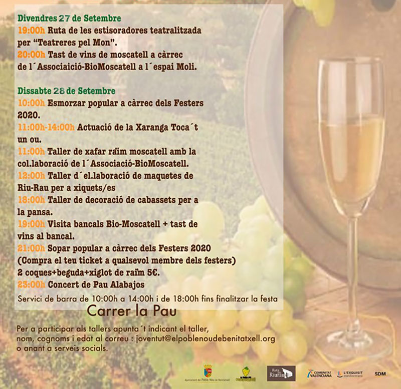 Festa del Moscatell de Benitatxell 2019: programme