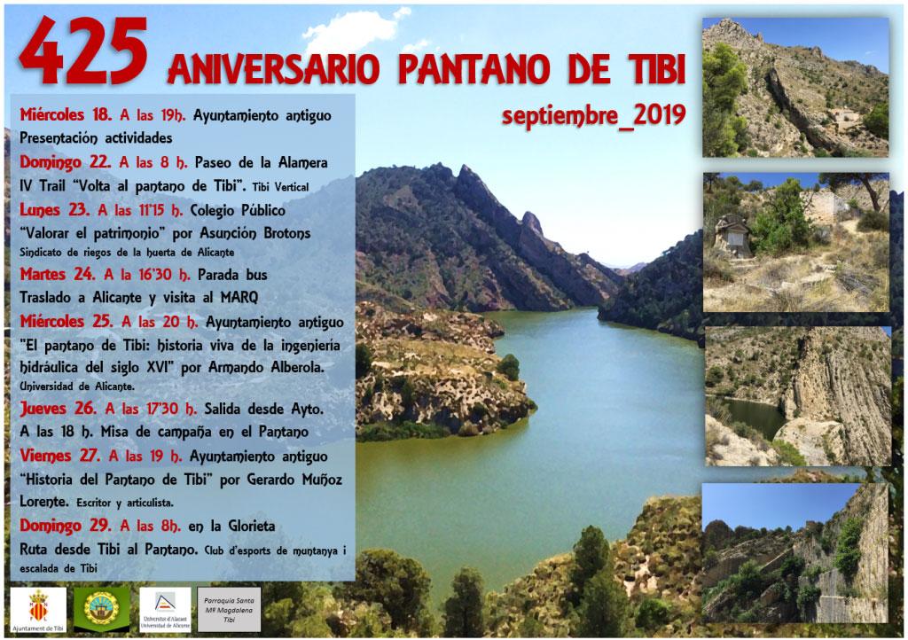 Construcción del pantano de Tibi: programme