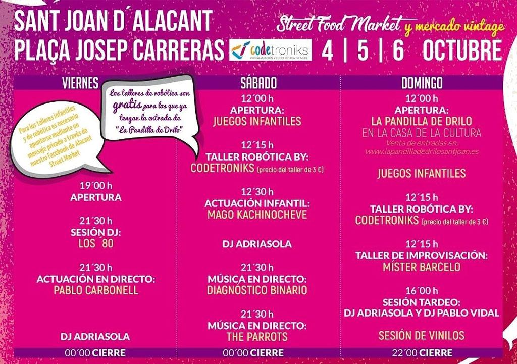 Sant Joan Street Food Market 2019: programme