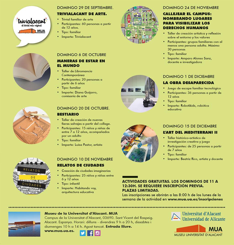 Diumenges al MUA 2019-2020: programa