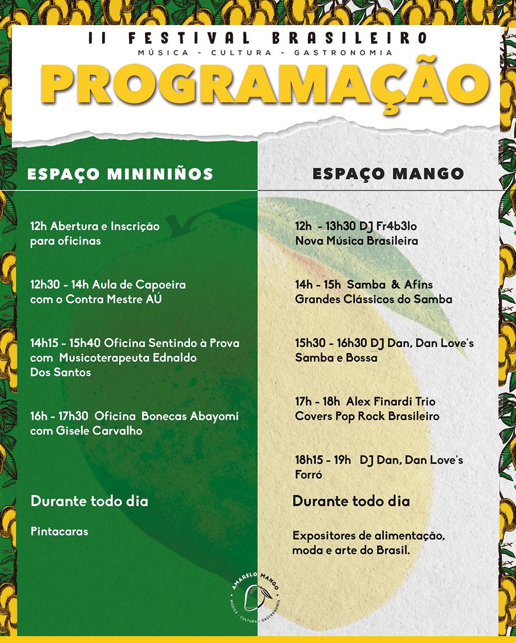 Festival Amarelo Mango 2019: programa