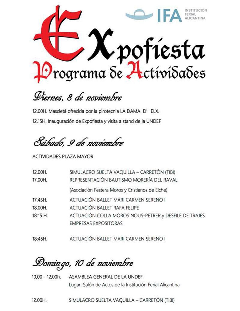 Expofiesta 2019: programa