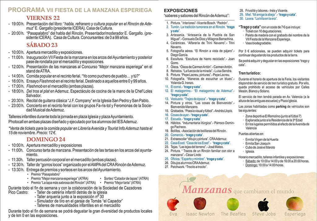 Feria de la manzana esperiega 2019: programme