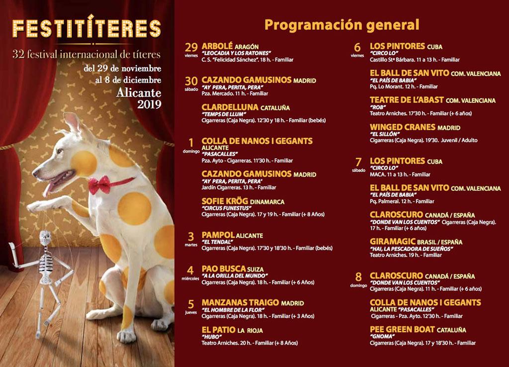 Festitíteres 2019: programa