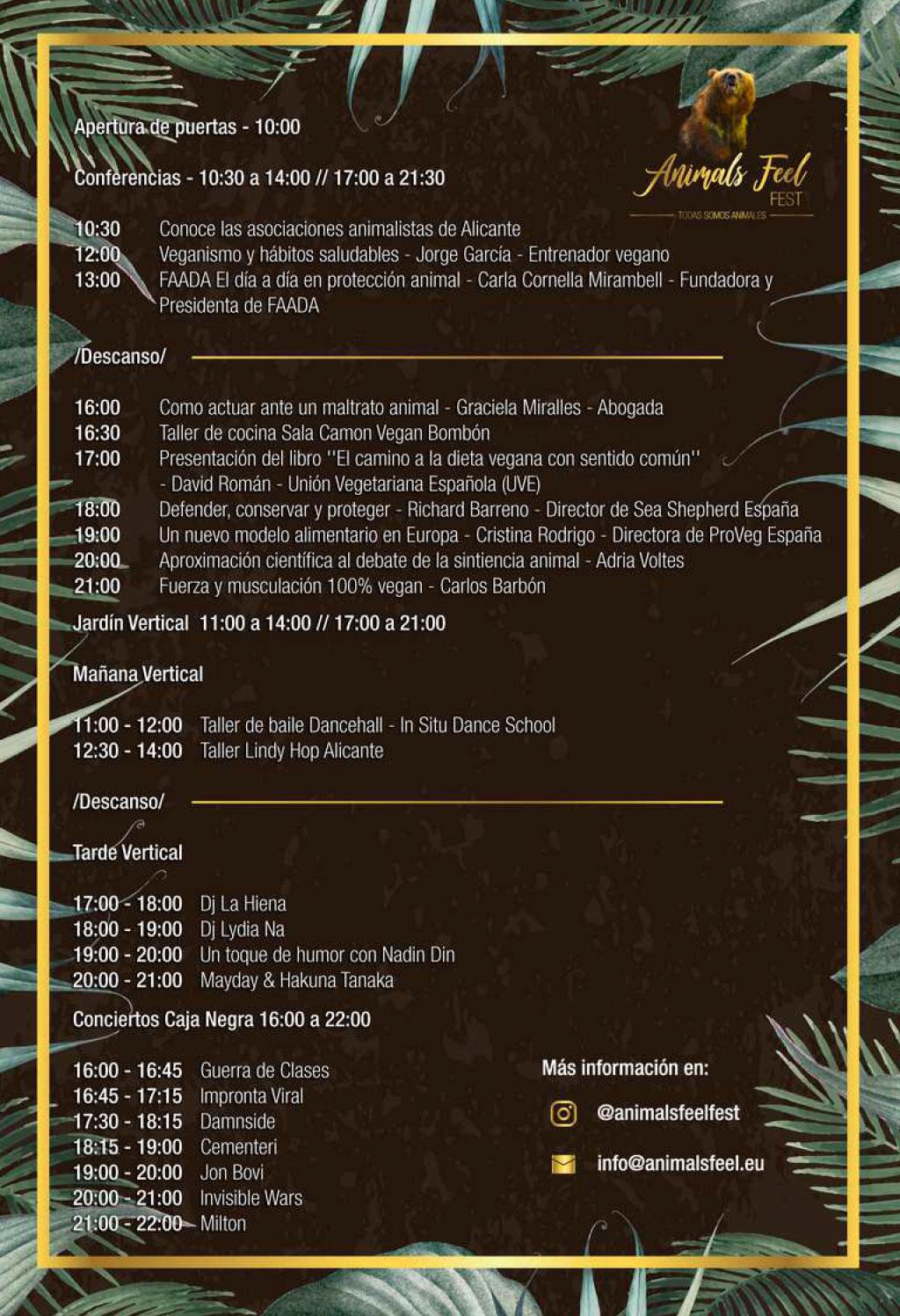 Animal Feel Fest 2019: programme