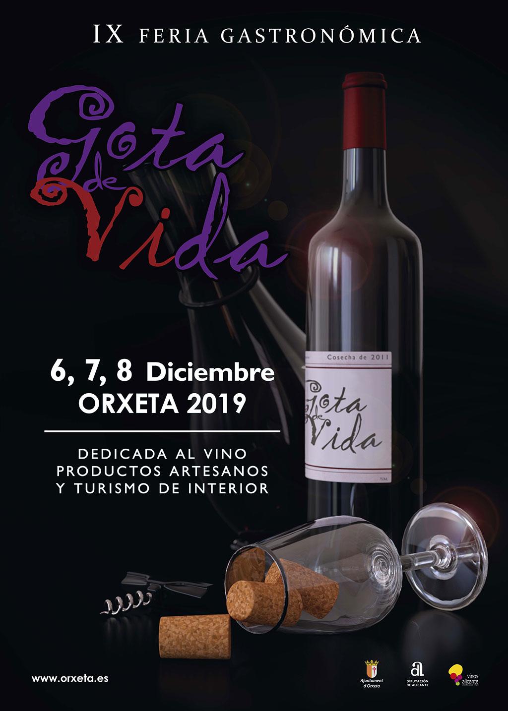 Feria Gastronómica Orxeta 2019: cartel