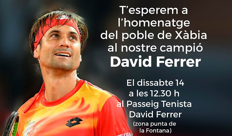 Homenaje a David Ferrer