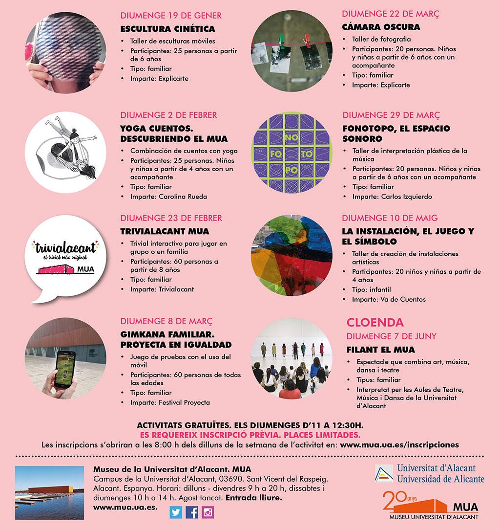 Diumenges al MUA 2020: programa