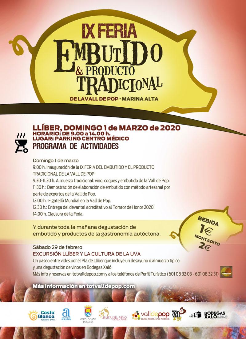 Feria del Embutido La Vall de Pop 2020: programa