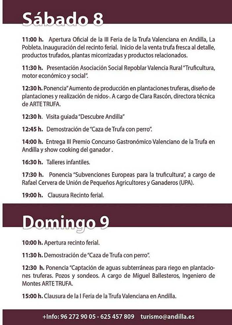Feria Valenciana de la Trufa 2020: Программа