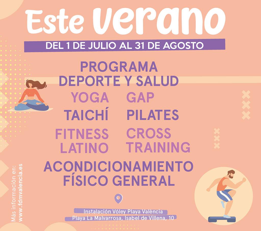 Actividades deportivas playa Valencia