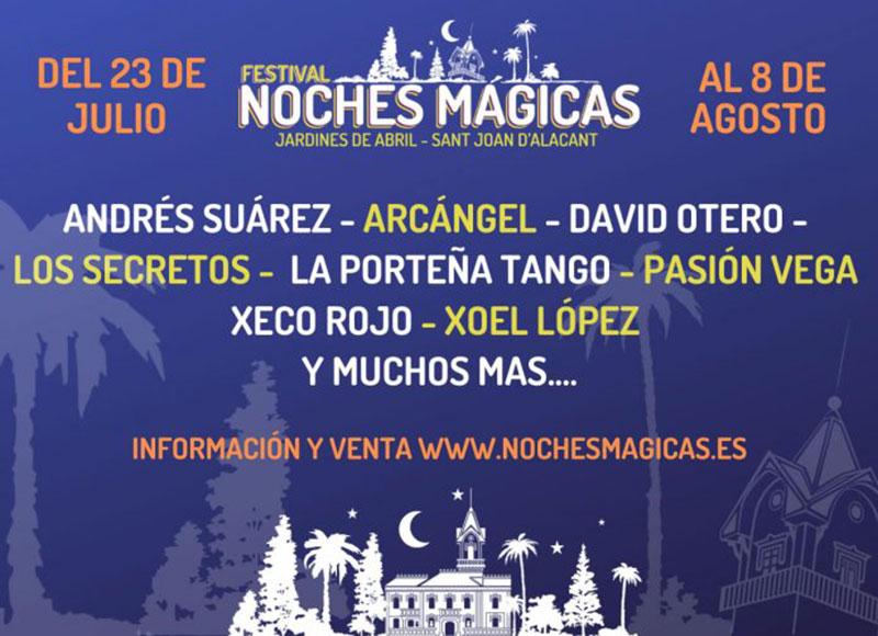 Festival Noches Mágicas 2020: programa