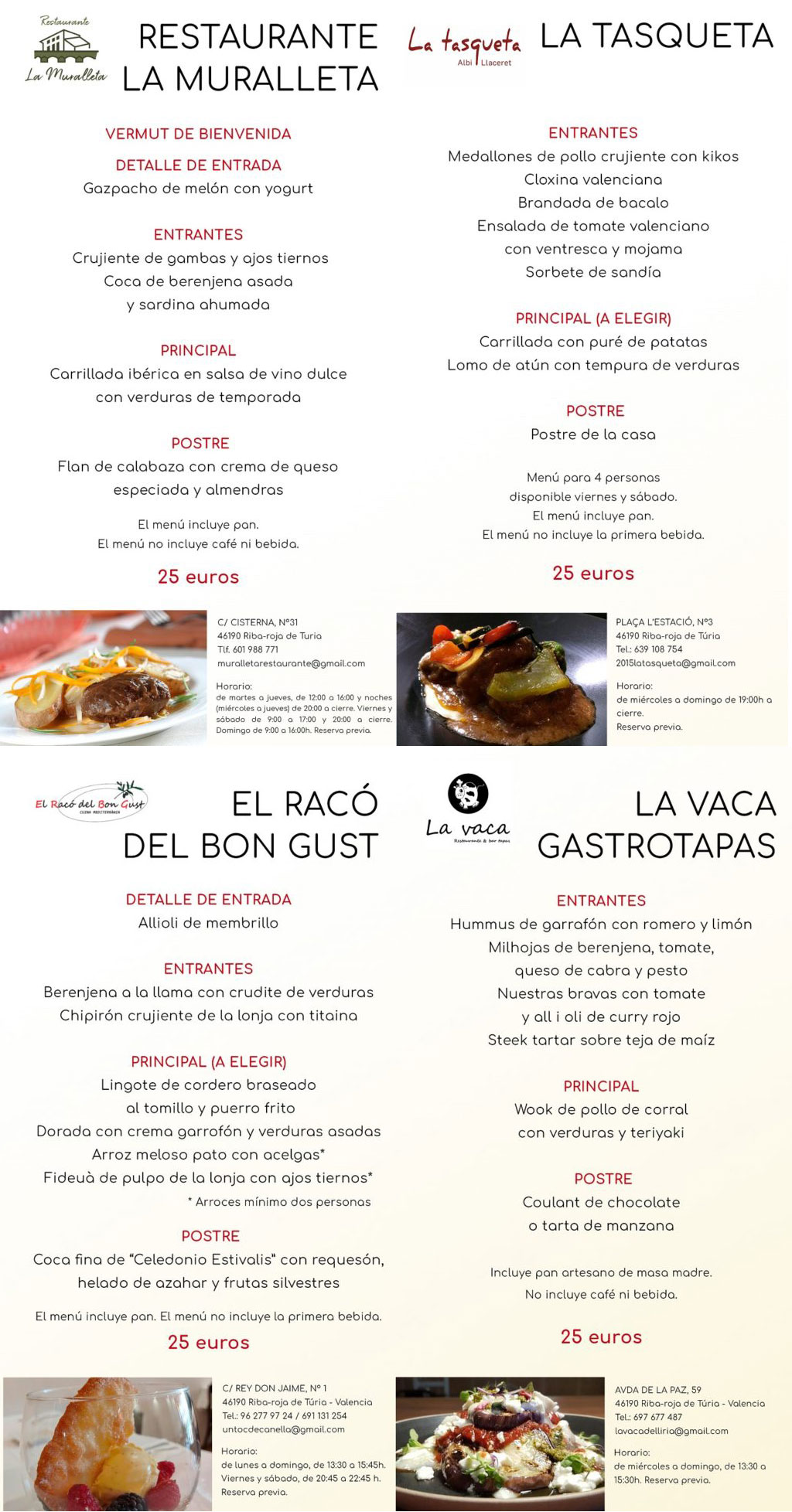 Jornadas Gastronómicas de Riba-roja de Túria 2020: programa