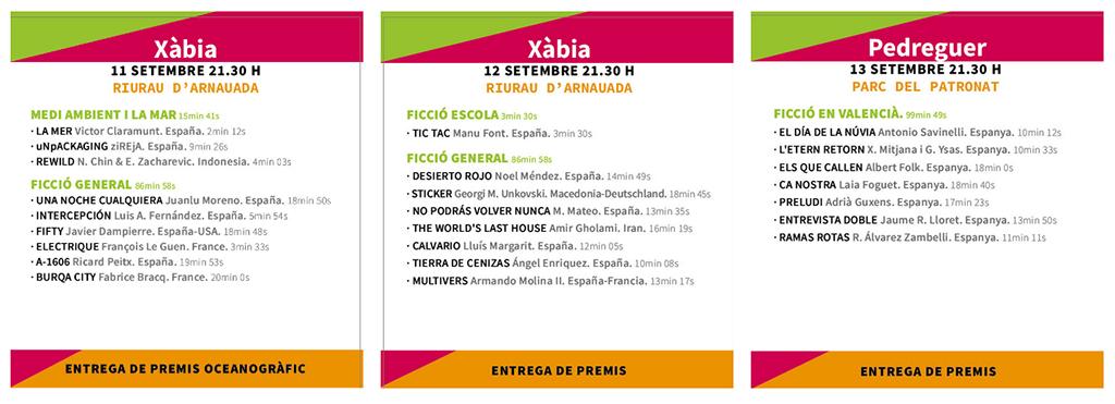 Riu Rau Film Festival 2020: Программа