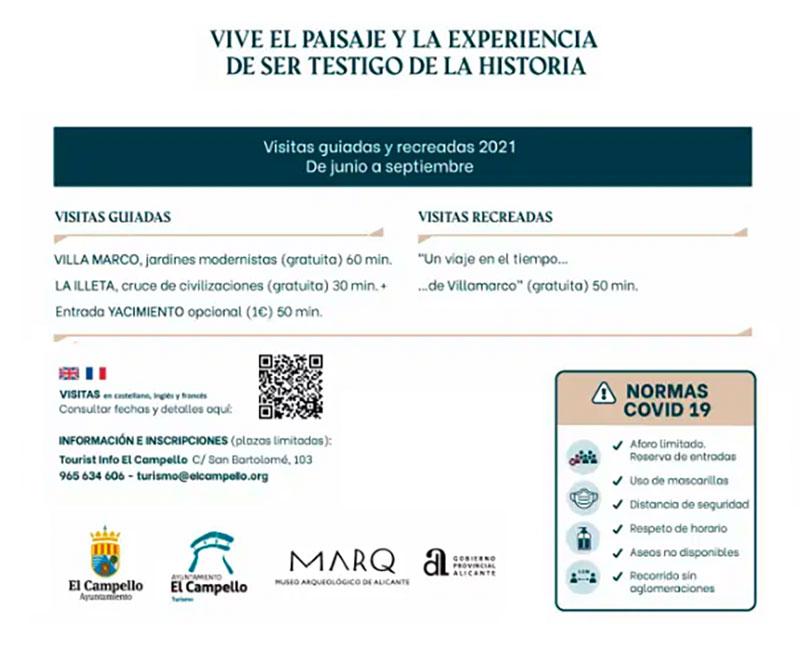 Cartel Visitas El Campello 2021